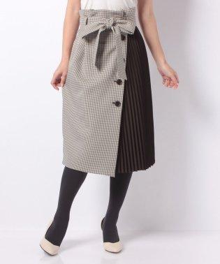 プリーツアシメタイトスカート