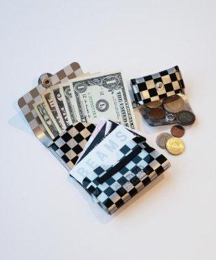 SALLIES / Pocket Pal ミニマル メタリック パターン ウォレット
