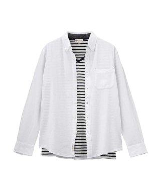 カラミ織りアンサンブルシャツ 8470-8076