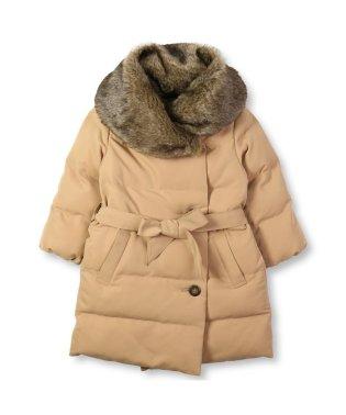 フェイクファーふんわり中綿ロングコート