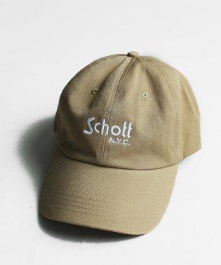 【men's FUDGE 7月号掲載】Schott/ショット/COTTON TWILL CAP BASIC LOGO/コットン ツイル ベーシックキャップ