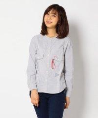 and wander/アンドワンダー Dry Ox Nocollar Shirt