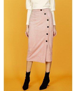 フェイクスエードカラータイトスカート