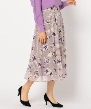 オパールフラワープリントスカート