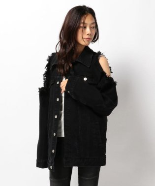 Chica/チカ/Damege Denim Jacket