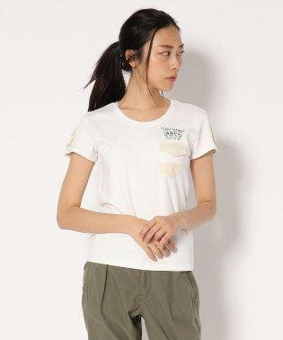 AVIREX/ アヴィレックス/ ミリタリーTシャツ ウィズ スリーブ ポケット/MILITARY T-SHIRT WITH SLEEVE POCKET