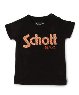 【KIDS】SCHOTT/ショット/CHECKER LOGO T-SHIRT/キッズ チェッカー ロゴTシャツ