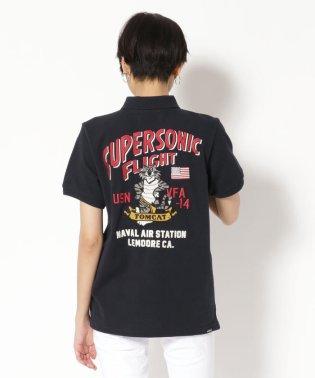 AVIREX/アヴィレックス/ウイメンズ ポロシャツ スーパーソニック/SUPERSONIC POLO SHIRT
