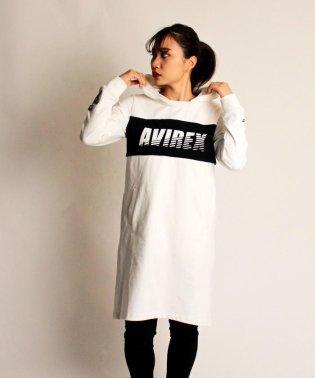 【AVIREX STREET GEAR/TRACK】AVIREX/アヴィレックス/リムーバブルフーディドレス/REMOVABLE HOODIE DRESS