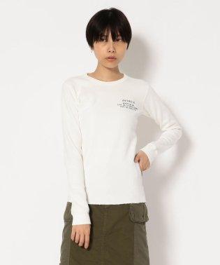 AVIREX/アヴィレックス/ハニカムワッフル クルーネック Tシャツ/HONEY COMB WAFFLE CREW NECK T-SHIRT