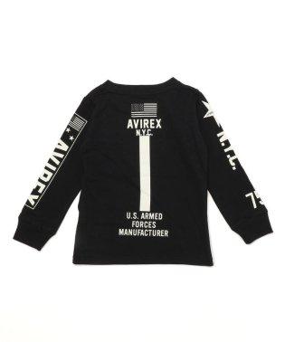 KIDS/AVIREX/アヴィレックス/キッズ スリーブ ロゴTシャツ/SLEEVE LOGO TEE