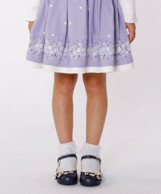 【KIDS雑貨】花 バレエシューズ (18~21cm)