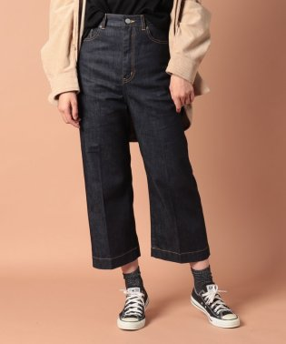 selvage denim5pocket wide pants