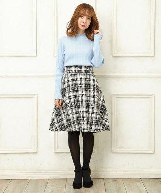 CKレースUPツイードフレア/スカート