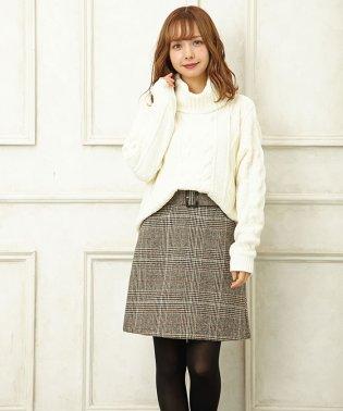 レンチェック/台形スカート