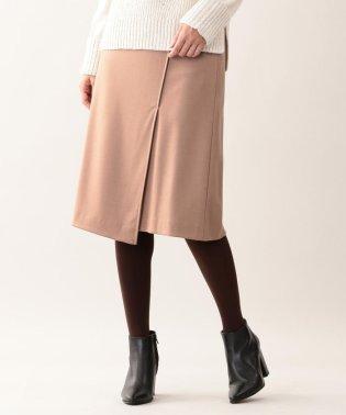 ウール圧縮ラップ風スカート