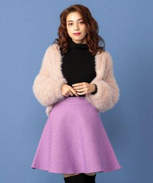 ラメミニフレアニットスカート