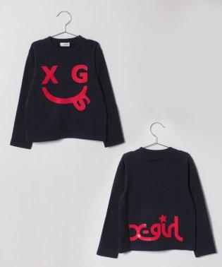 エックススマイルプリントTシャツ
