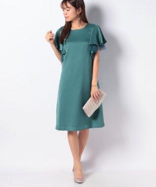 ラッフル袖ドレス
