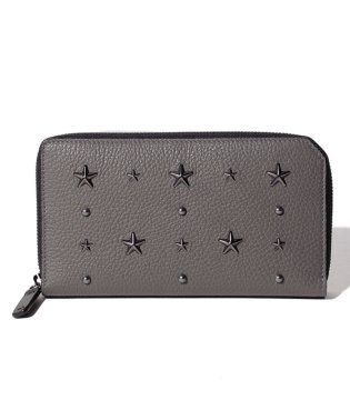 【JIMMYCHOO】ラウンドファスナー財布 GRAINY CALF WITH STAR AND PEARL STUDS
