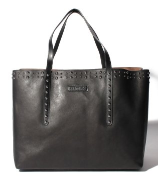 【JIMMYCHOO】トートバッグ  LEATHER WITH PEARL STUDS