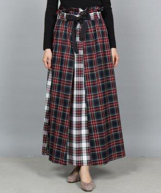 GRANDTABLE(グランターブル)ハトメリボンタータンチェックロングスカート