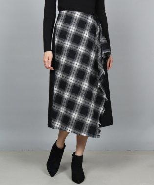GRANDTABLE(グランターブル)チェック柄ラッフルラップスカート