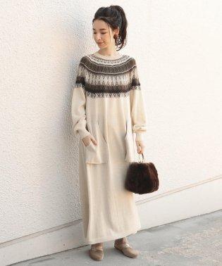 unfil:ジャガードニットドレス