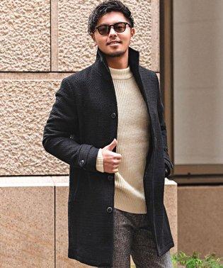 VICCI【ビッチ】イタリアンカラーワッフル織りチェスターコート