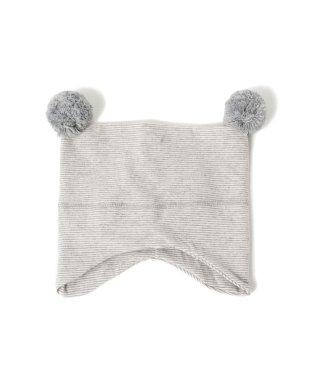1+in the family / CIRO bonnet ボンボン付き スクエア ウインター キャップ 18 (3ヶ月~1才)