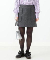 Ray BEAMS / メルトン パッチポケット ミニスカート