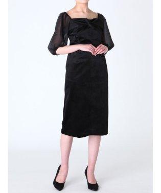 LADYベルベットタイトドレス