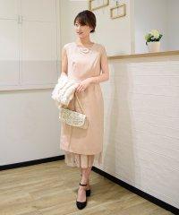 3wayチュールスカート付きタイトドレス