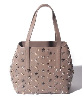 【JIMMYCHOO】レディース トートバッグ LEATHER W MULTI METAL STARS