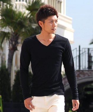 Tシャツ ティーシャツ メンズ 長袖 ロングTシャツ ロンT インナー カットソー おしゃれ 黒 白 ホワイト 無地 プレーン