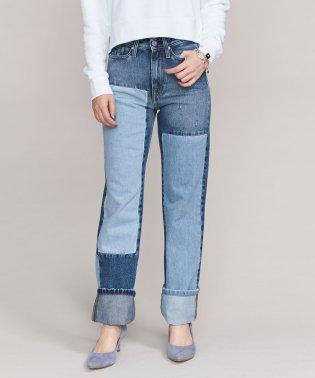 <Calvin Klein Jeans>パッチワークストレートデニムパンツ