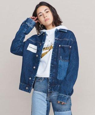 <Calvin Klein Jeans>パッチワークデニムジャケット