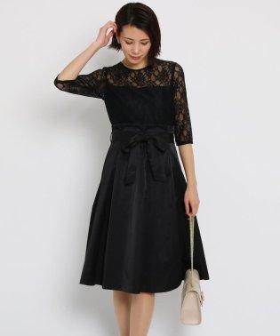 ◆【洗える】シャイニーレースドレス