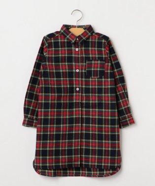SHIPS KIDS:ネル チェック シャツ ワンピース(100~130cm)