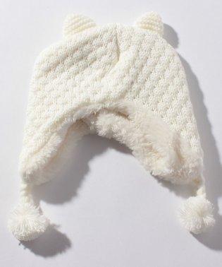 アニマル裏ボアニット帽
