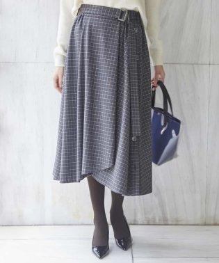 【洗える】タッタソールチェックフレアスカート