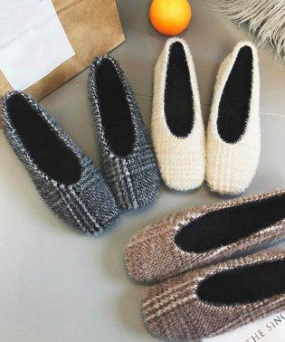 パンプス ファーパンプス レディースシューズ 靴 韓国 春 秋冬 フラットパンプス