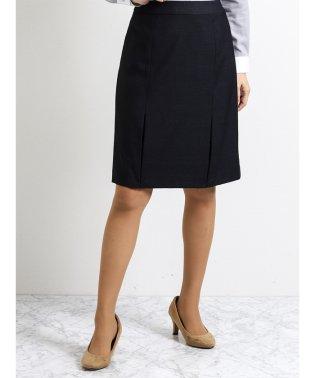 ストレッチウォッシャブル セットアップフレアースカート 紺チェック