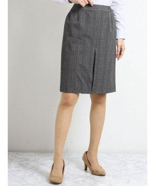 ストレッチウォッシャブル セットアップタイトスカート グレーチェック