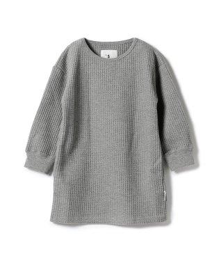 Smoothy / ビッグシルエット ワッフル ロングスリーブ Tシャツ 18 (ボーイズ ガールズ 90~140cm)