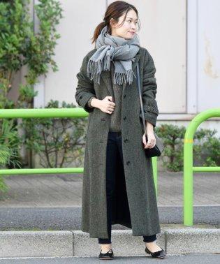 liflattie ships:【MOON】ヘリンボーンツイードシングルコート