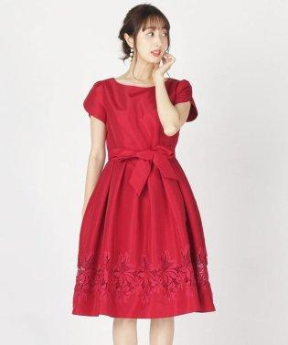 グログラン裾レースドレス