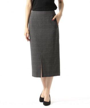 カルゼF/スリットタイトスカート