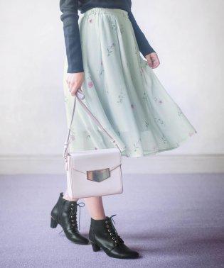 ブーケ花柄プリントスカート