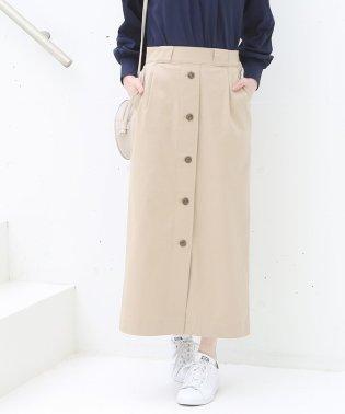 【別注】 Dickies(ディッキーズ)ボタンダウンストレッチロングタイトスカート